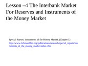 Lesson+4+-+Instruments+of+the+Money+Market