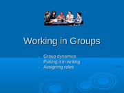 Working in Groups Ver. 2