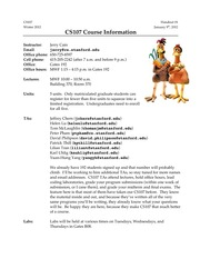 01-CS107-Course-Information