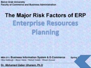 The Major Risk Factors of ERP