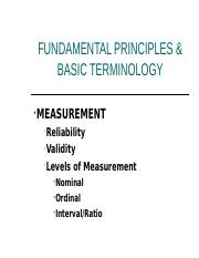 FUNDAMENTAL PRINCIPLES AND BASIC TERMINOLOGY (1)