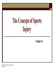 Module 2 Concepts of Sports Injury