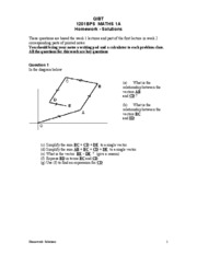 Homework Vectors 1 - Solutions