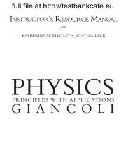 pages Test Bank for Physics Principles with Applications  th Edition Giancoli pdf college essay topics to write about