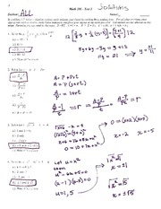 (sample) Exam #1 (with solutions)