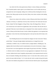 English 441- Beauty and the Beast Across Cultures rough draft