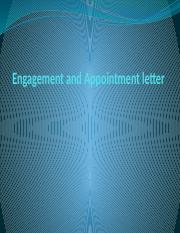 Lecture 5 Engagement and Appointment letter