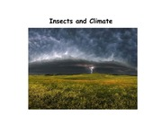 Lecture 2 - Insects and Climate