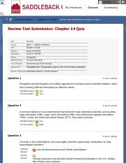 Review Test Submission: Chapter 14 Quiz 2