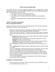 Management 3450 midterm exam study guide