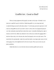 Copy of Graffiti Art:  Good or Bad? - Kevin Soto.docx