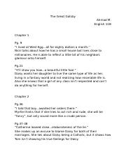 The Great Gatsby Notes and Annotations .docx