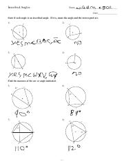 Inscribed Angles KEY.pdf - Kuta Software Infinite Geometry ...