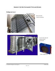 Handout 16 - Heat Exchanger Types and Designs