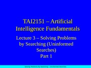 19189_Lecture03 Uninformed Search (Part 1)