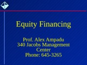Chap 15 - Equity Financing