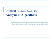 Lect9-Analysis-of-Algorithms