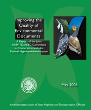 AASHTO _2006_ Improving the Quality of Environmental Documents