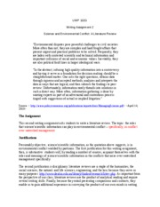 102G - Prompt 2 - Science and Environmental Conflict - A Literature Review