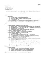 Rise of Prussia FRQ Outline
