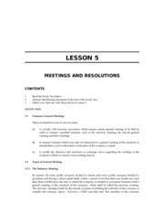 LAWII.5A MEETINGS AND RESOLUTIONS
