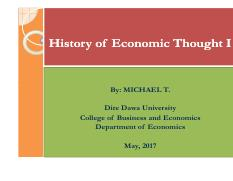 TH CH@2 0 pdf - History of Economic Thought I By MICHAEL T