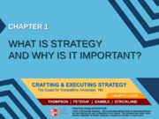 Strategy chapter 1 - What is strategy and why is it important - MM