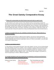 The Great Gatsby Comparative Essay  .odt