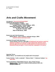 Arts and Crafts Movement.docx