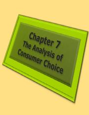 Ch.7_The Analysis of Consumer Choice