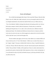 Beauty and Short beside essay.docx