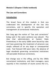 Module 3 Chapter 3 The Law and Corrections.pdf