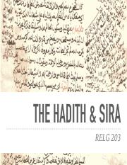 RELG 203 27. Hadith and Sira.pdf