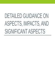 Aspects Impacts & Significance_ENBUS 2013