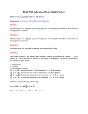 Homework Assignment #1 (11-08-2011)