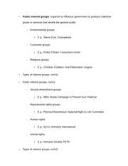 Notes on Public interest groups