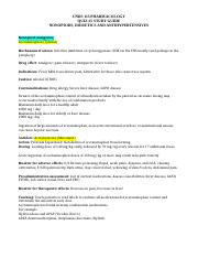 NONOPIODS, DIURETICS AND ANTIHYPERTENSIVES STUDY GUIDE[2267].docx