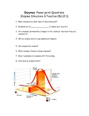 enzyme structure and function questions homework