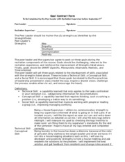 Goal Contract Form Assignment