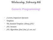 Lecture 9 - Generic Programming