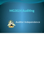 MG3024 Auditing Lecture 3 & 4 Auditor Independence.pptx