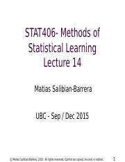STAT406-15-lecture-14