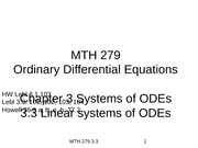 3.3 Linear systems of ODEs(2)
