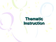 01 Thematic Instruction