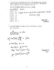 Test 1 Alternate Exam And Solutions