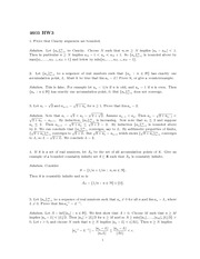 Homework 3 Solution Fall 2013 on Real Analysis