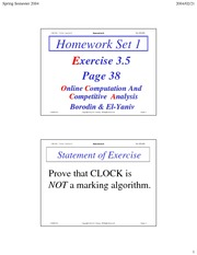 Homework H Solutions on Online Algorithms