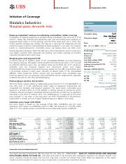 UBS - Initiation - Hindalco Industries Marginal gains; downside risks.pdf.pdf