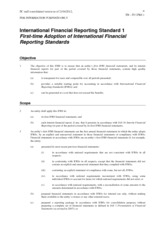 ifrs1 first-time adaptation of international financial reporting standards