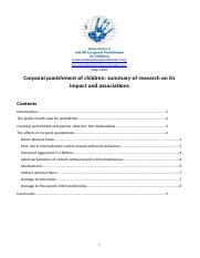 Summary of research on the effects of corporal punishment, May 2015.docx